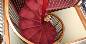 Spiral staircase by DCI Home Works - Call 1-800-254-3643 to discuss your next home remodeling project